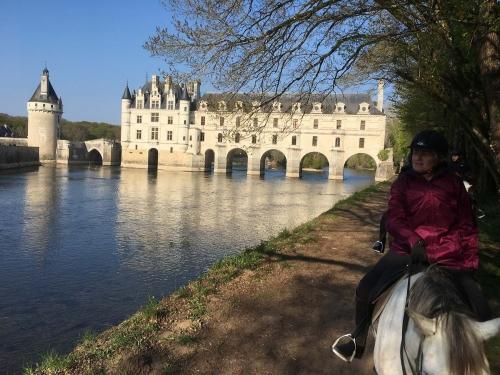 Visite de chateau à cheval